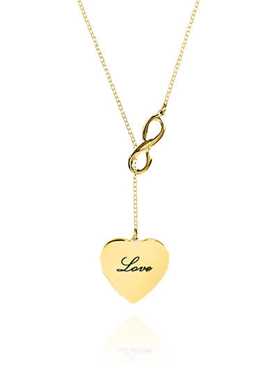 Belk & Co. 14k Yellow Gold Infinity Heart Necklace