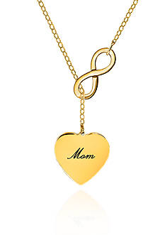 Belk & Co. 14k Yellow Gold Mom Infinity Heart Necklace