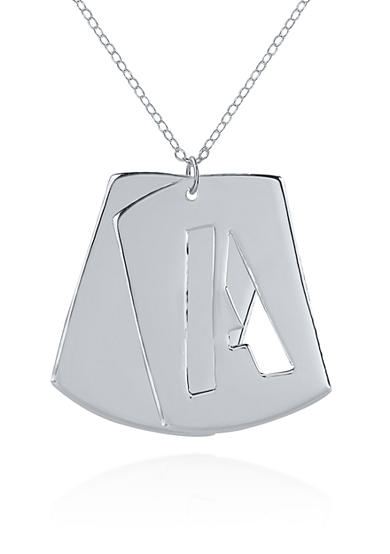 Belk & Co. Sterling Silver Initial A Dog Tag Pendant