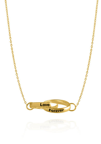 Belk & Co. 10k Yellow Gold Love Forever Rings Necklace