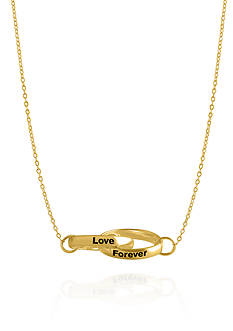 Belk & Co. 14k Yellow Gold Love Forever Rings Necklace