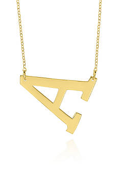 Belk & Co. 14k Yellow Gold Horizontal A Necklace