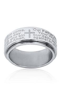 Belk & Co. Men's Stainless Steel Lord's Prayer Ring