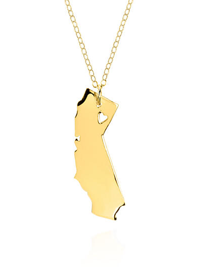 Belk & Co. 10k Yellow Gold California State Pendant