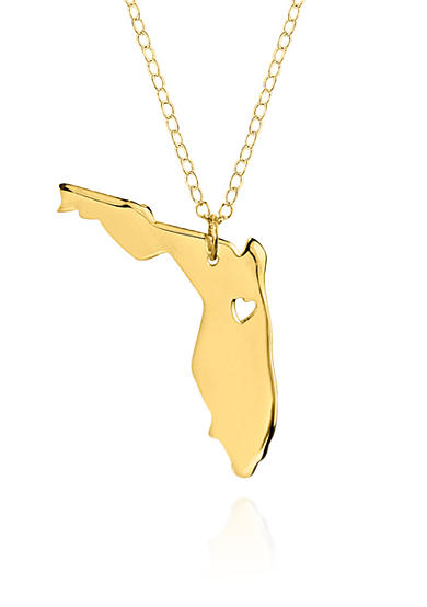 Belk & Co. 14k Yellow Gold Florida State Pendant