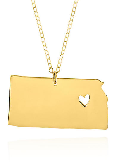 Belk & Co. 10k Yellow Gold Kansas State Pendant