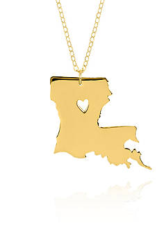 Belk & Co. 14k Yellow Gold Louisiana State Pendant
