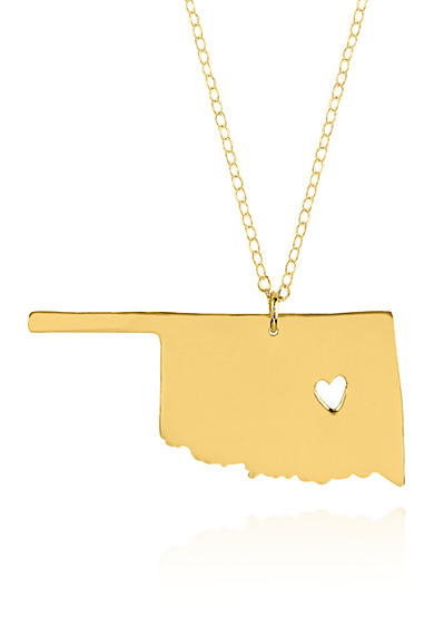 Belk & Co. 10k Yellow Gold Oklahoma State Pendant