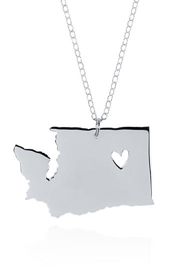 Belk & Co. Sterling Silver Washington State Pendant