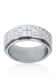 Belk & Co. Men's Stainless Steel Lord's Prayer Ring