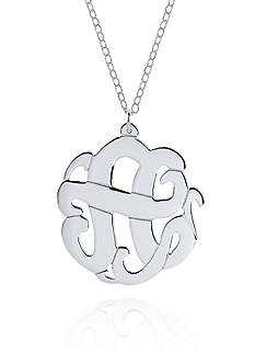 Belk & Co. Sterling Silver A Monogram Necklace