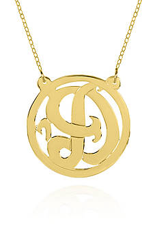 Belk & Co. 10k Yellow Gold D Monogram Necklace