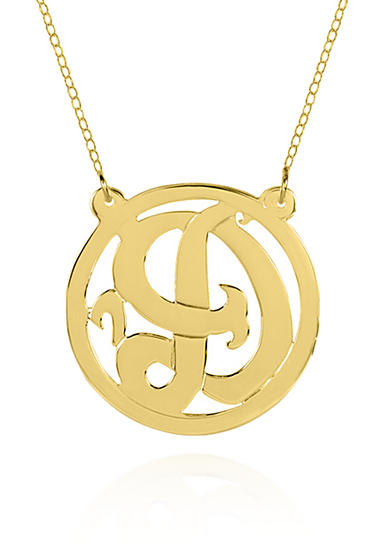 Belk & Co. 14k Yellow Gold D Monogram Necklace