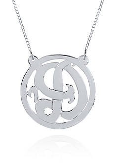Belk & Co. Sterling Silver D Monogram Necklace