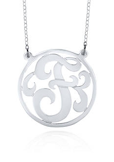 Belk & Co. Sterling Silver F Monogram Necklace