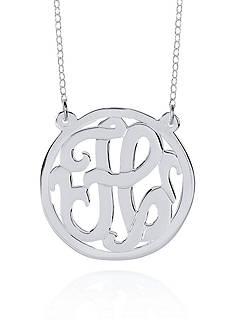 Belk & Co. Sterling Silver H Monogram Necklace