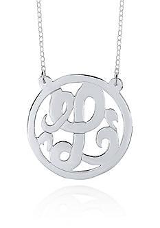 Belk & Co. Sterling Silver L Monogram Necklace