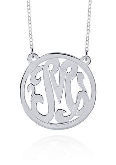 Belk & Co. Sterling Silver M Monogram Necklace