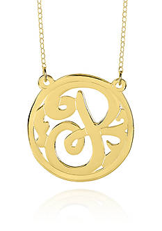 Belk & Co. 14k Yellow Gold P Monogram Necklace