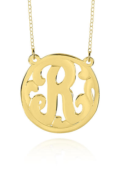Belk & Co. 10k Yellow Gold R Monogram Necklace