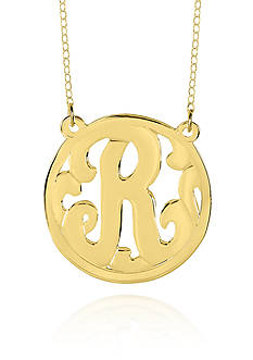 Belk & Co. 14k Yellow Gold R Monogram Necklace