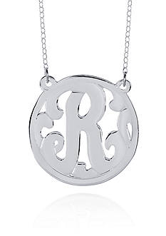 Belk & Co. Sterling Silver R Monogram Necklace