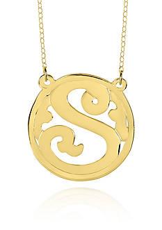 Belk & Co. 14k Yellow Gold S Monogram Necklace