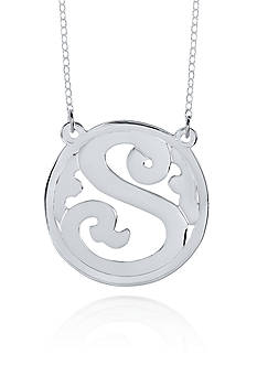Belk & Co. Sterling Silver S Monogram Necklace