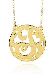 Belk & Co. 10k Yellow Gold T Monogram Necklace