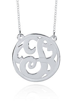 Belk & Co. Sterling Silver T Monogram Necklace