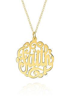 Belk & Co. 14k Yellow Gold Faith Monogram Pendant