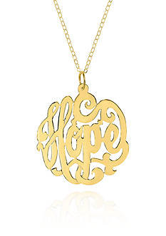 Belk & Co. 14k Yellow Gold Hope Monogram Pendant