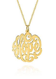 Belk & Co. 10k Yellow Gold Monogram Hope Pendant