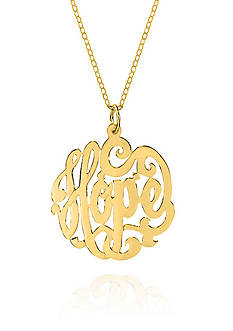 Belk & Co. 14k Yellow Gold Monogram Hope Pendant