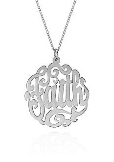 Belk & Co. Sterling Silver Faith Monogram Pendant