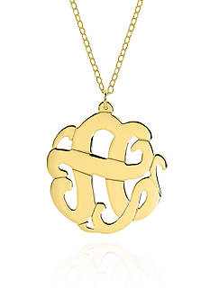 Belk & Co. 10k Yellow Gold A Monogram Necklace