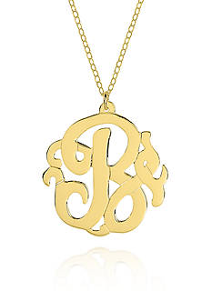 Belk & Co. 14k Yellow Gold B Monogram Necklace
