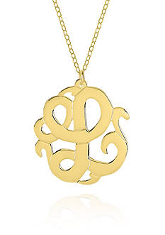 Belk & Co. 14k Yellow Gold L Monogram Necklace