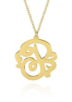 Belk & Co. 10k Yellow Gold P Monogram Necklace
