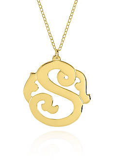 Belk & Co. 10k Yellow Gold S Monogram Necklace