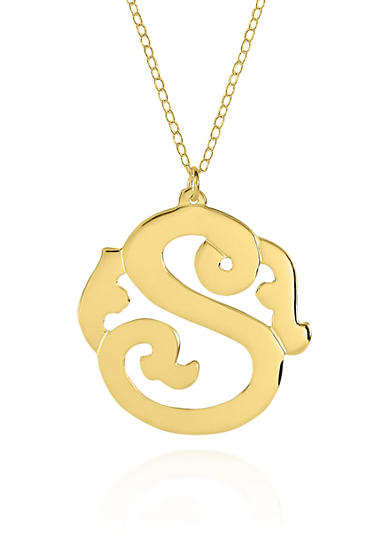 Belk & Co. 14k Yellow Gold S Monogram Necklace
