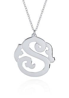 Belk & Co. Sterling Silver S Monogram Necklace
