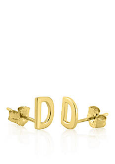 Belk & Co. 14k Yellow Gold D Initial Earrings