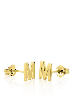 Belk & Co. 14k Yellow Gold M Initial Earrings
