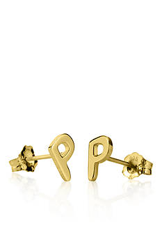 Belk & Co. 10k Yellow Gold P Initial Earrings