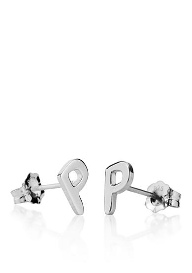 Belk & Co. Sterling Silver P Initial Earrings
