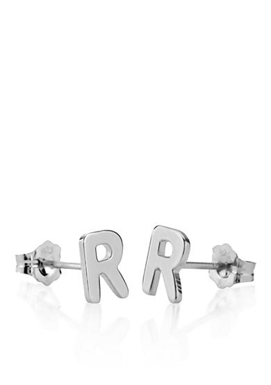 Belk & Co. Sterling Silver R Initial Earrings