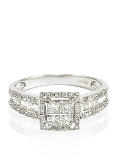Belk co diamond ring in 14k white gold belk for Belk fine jewelry rings