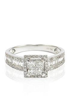 Belk & Co. Diamond Ring in 14k White Gold