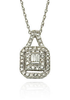 Belk & Co. Diamond Pendant in 14k White Gold